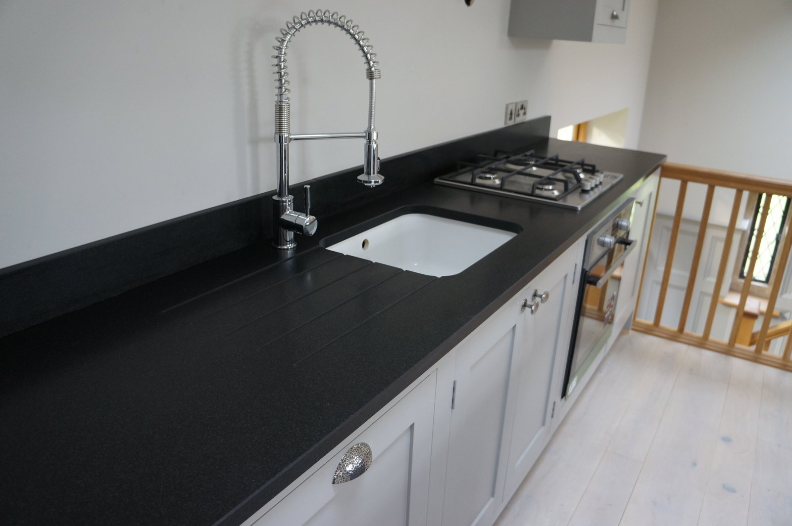Granite Sink India : Eclipsia Bianca & Indian Jet Black flamed and brushed granite worktops ...