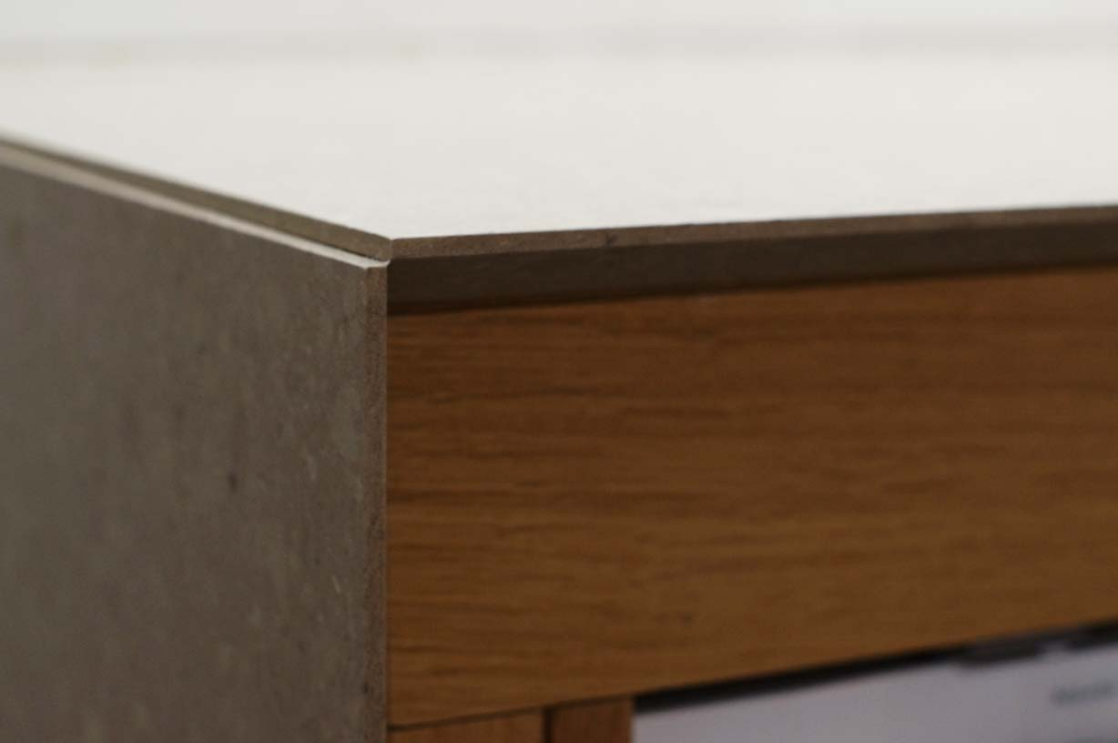 caesarstone shitake quartz kitchen birds-beak detail