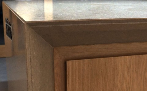 kitchen island close up. overall view of intricate island returns detail - close-up kitchen close up
