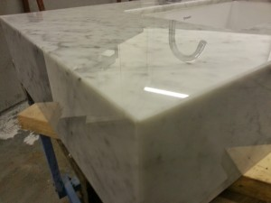 carrara marble vanity block